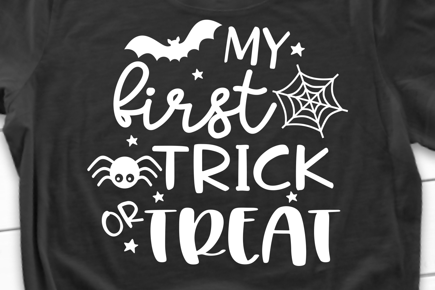 My First Trick or Treat SVG, DXF, PNG, EPS example image 1