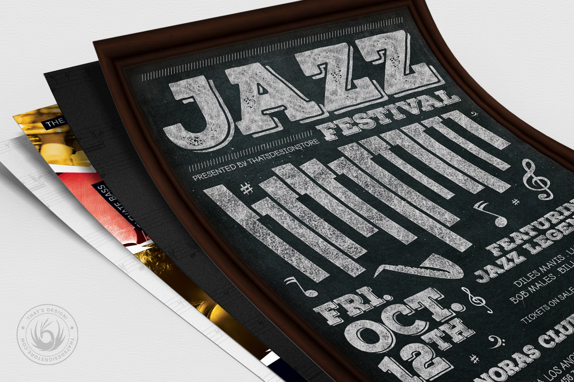 Jazz Festival Flyer Bundle V3 example image 4