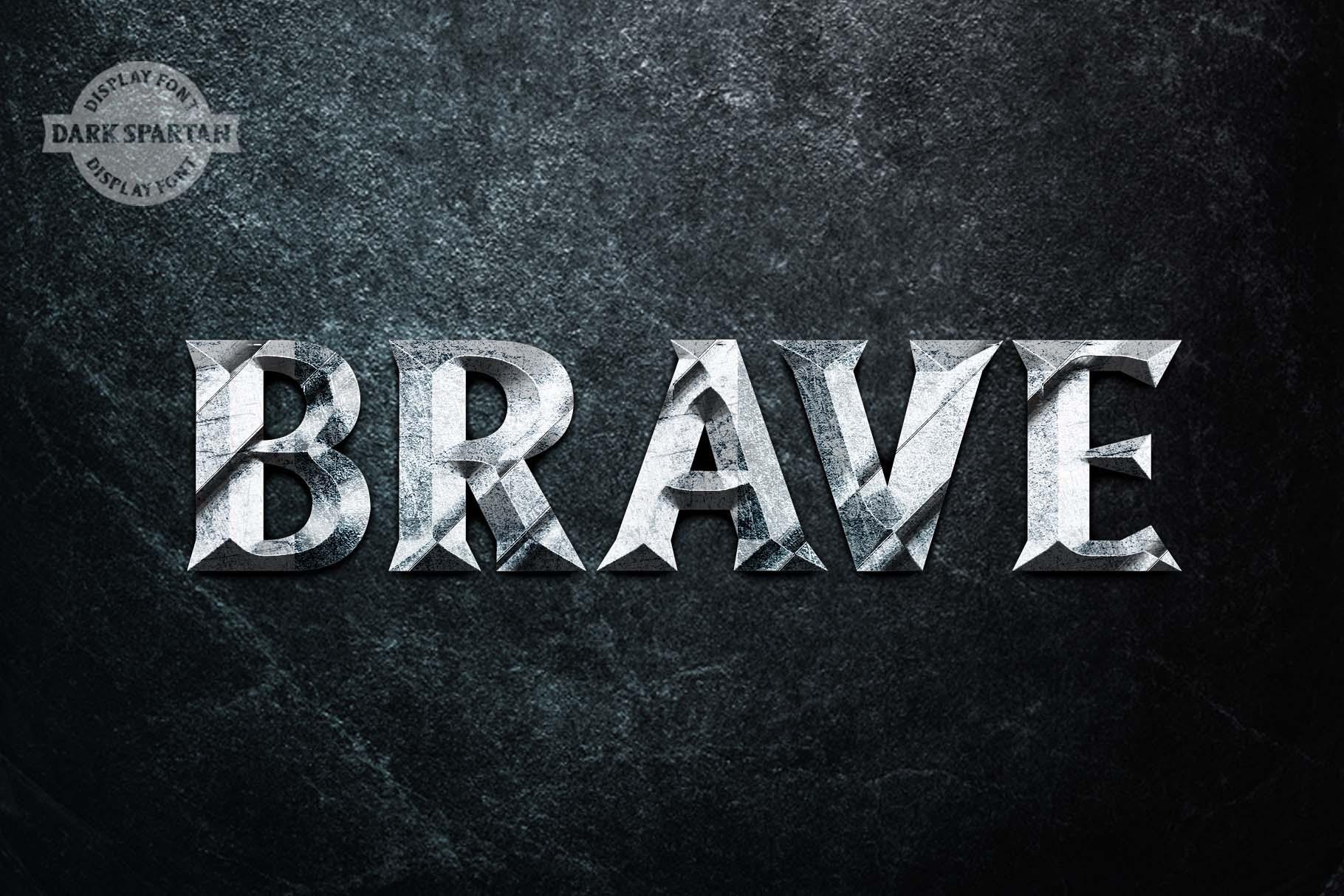 Dark Spartan Display Font example image 5