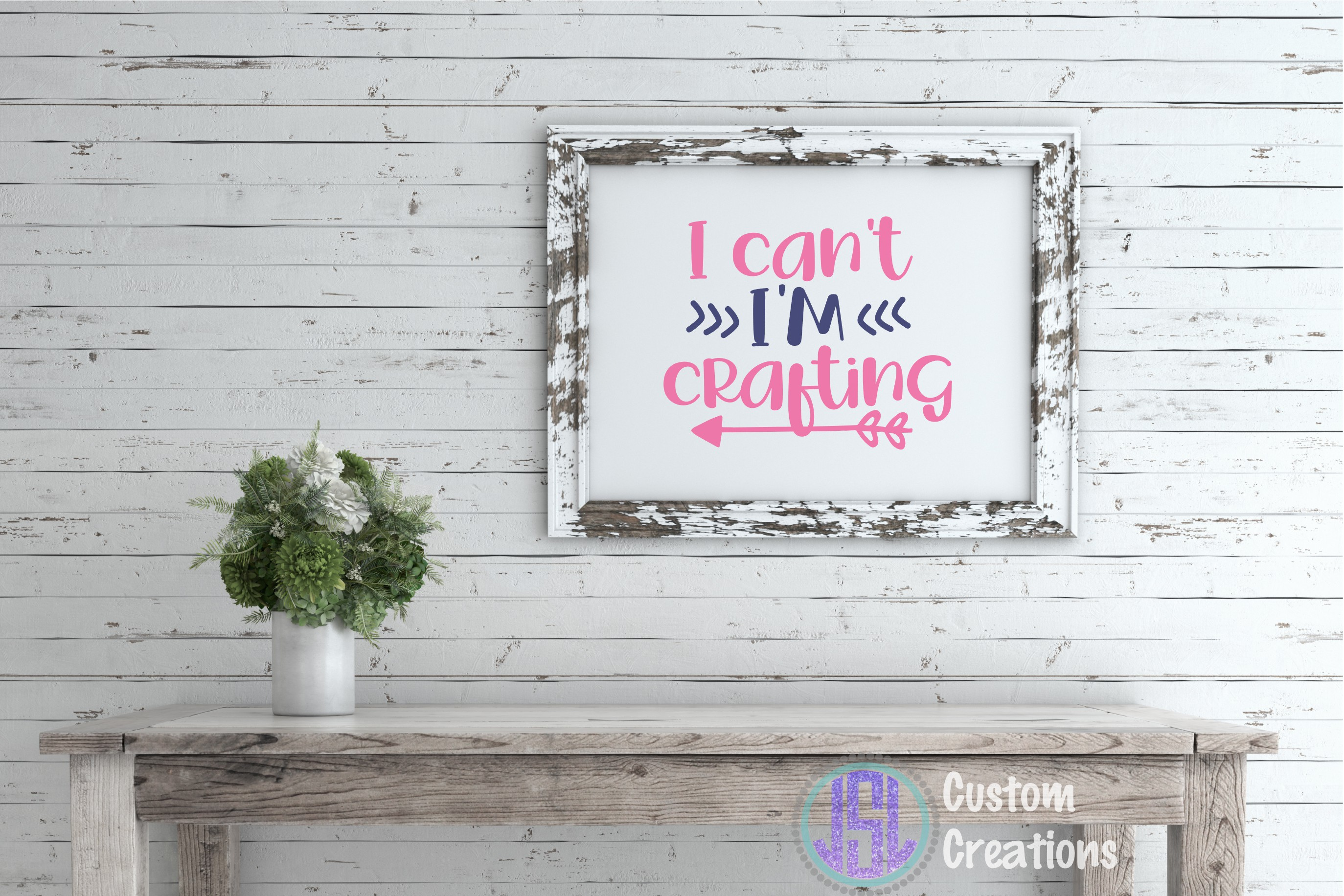 I Can't I'm Crafting | SVG DXF EPS PNG | Digital Cut File example image 2