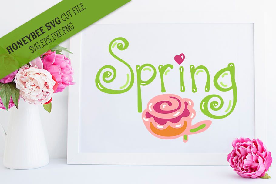 Spring Hand SVG Cut File example image 1