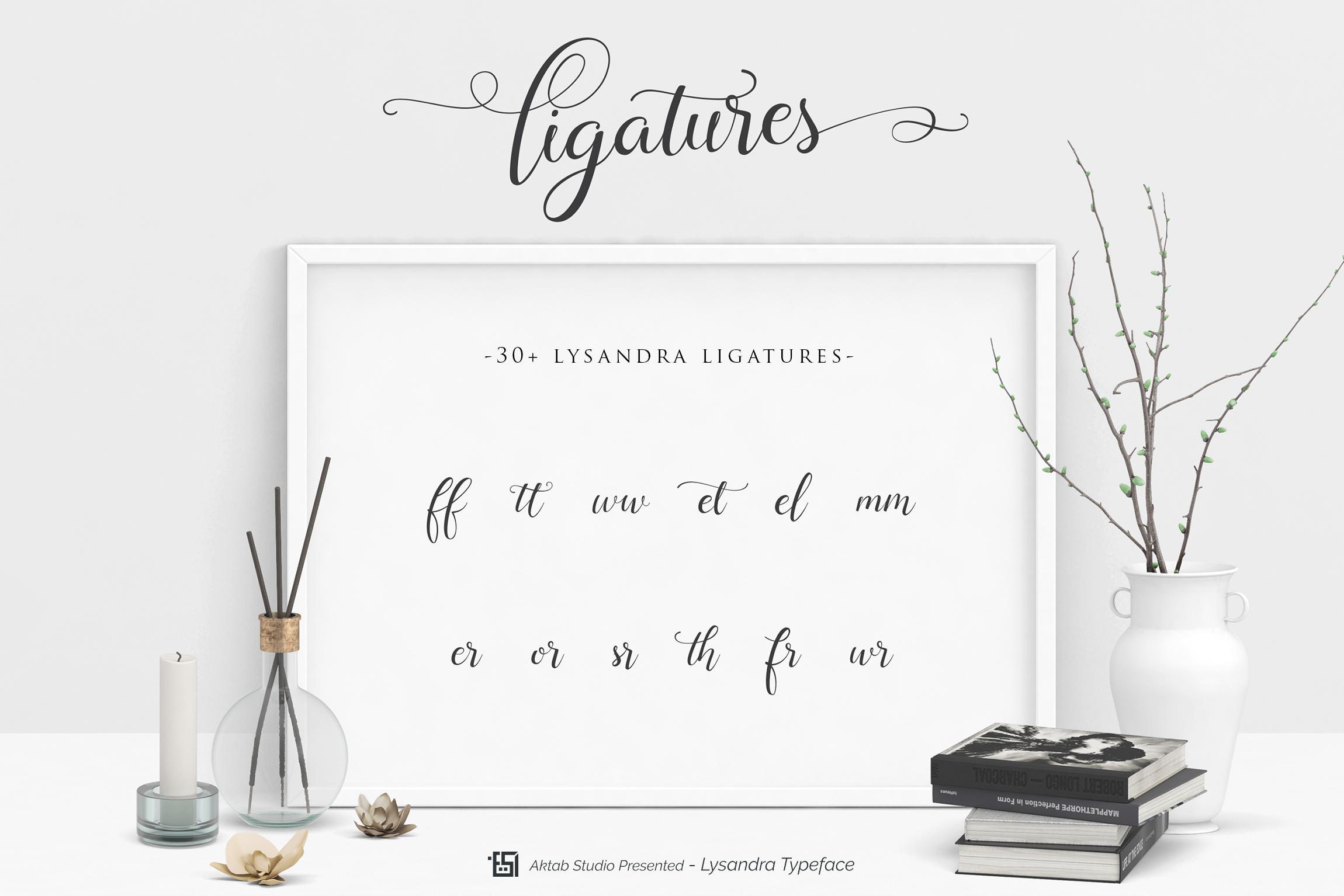 Lysandra Script Typeface example image 3