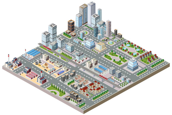 Big isometric city example image 2