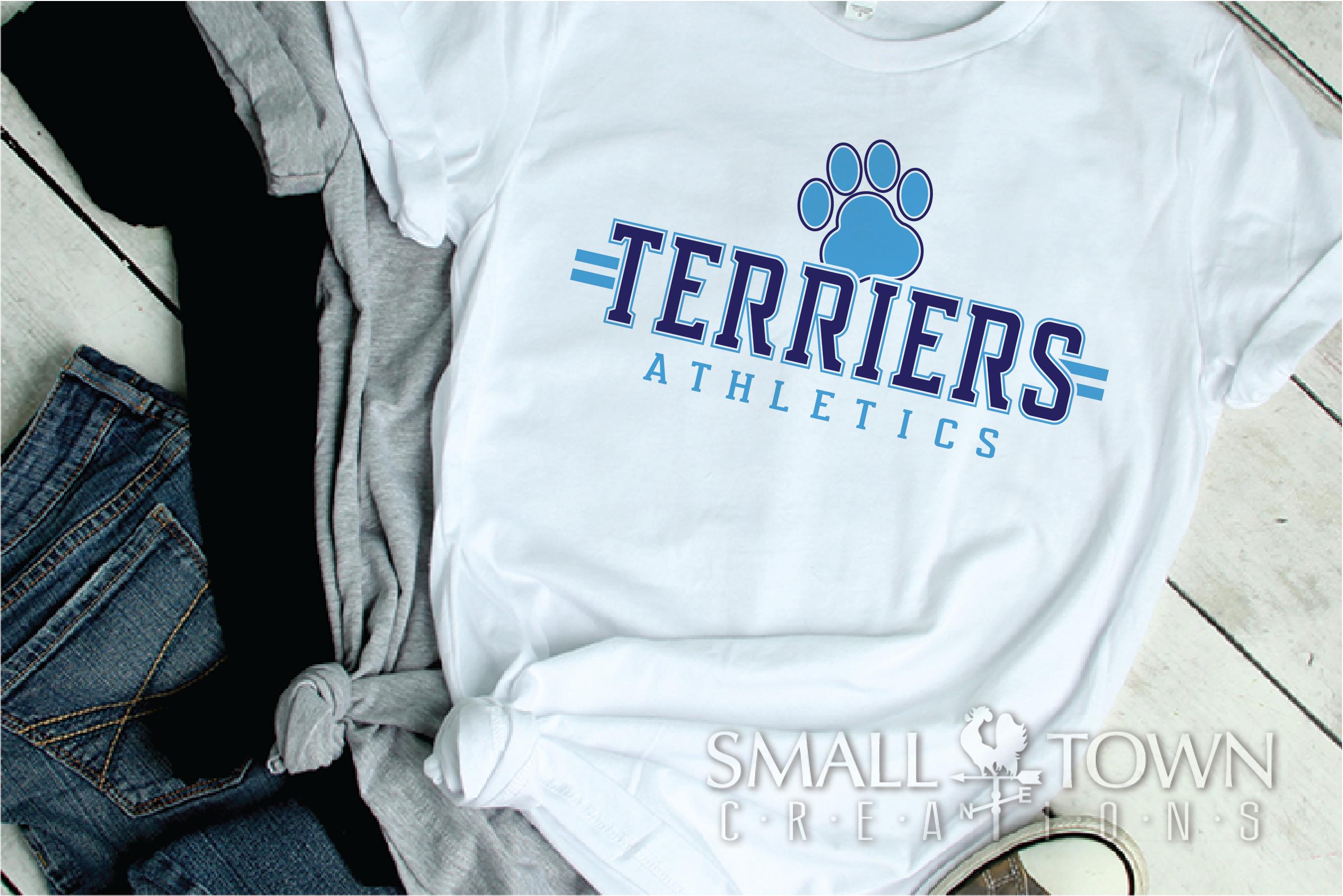 Terrier, Athletics, Sport, Team, Logo, PRINT, CUT, DESIGN example image 2
