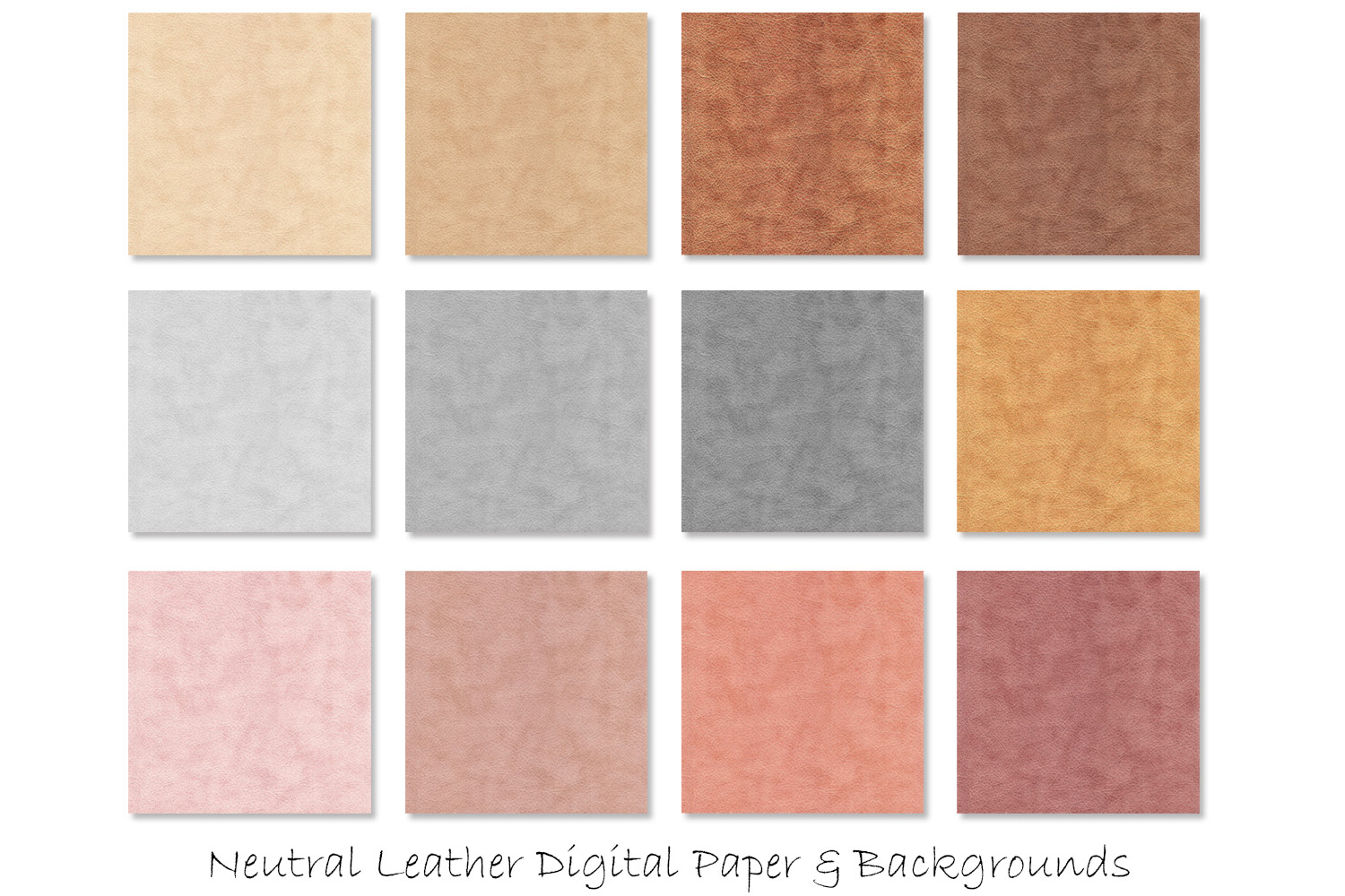 Leather/Suede Textures - Neutral Leather Digital Paper example image 2