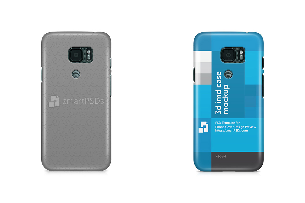 Samsung Galaxy S7 Active 3d IMD Mobile Case Design Mockup 2016 example image 1
