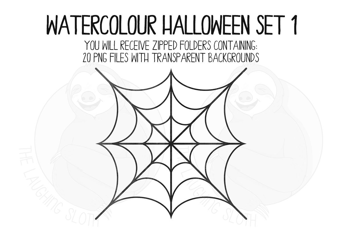 Watercolor Halloween Clip Art Set 1 example image 7