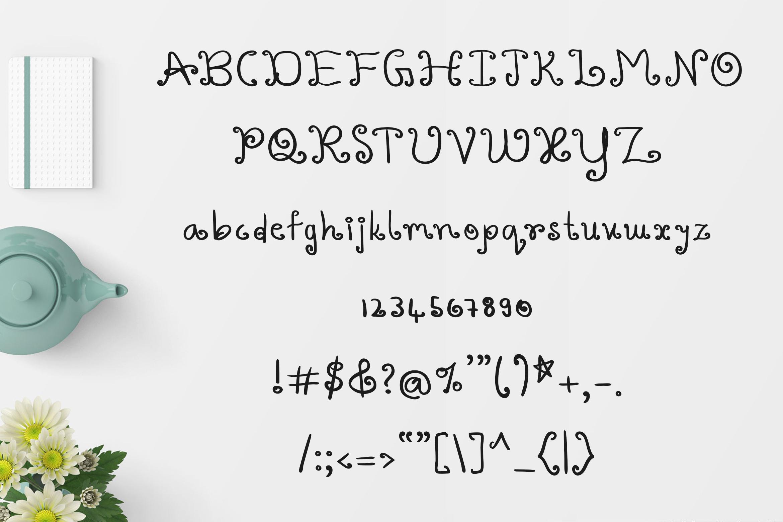 Varshuma - Handwritten Swirly Fun Font example image 4