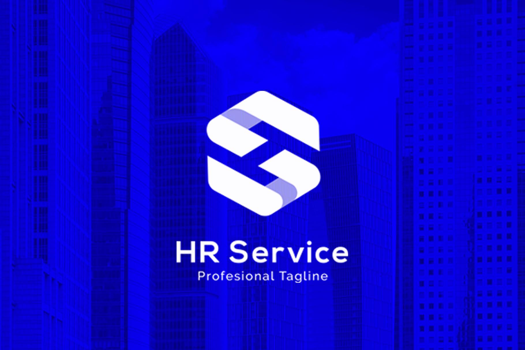 Hr Service H S Letter Logo