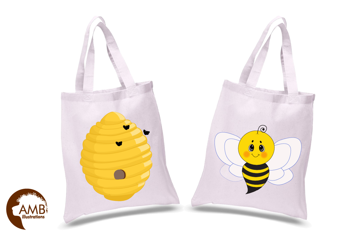 Bumble bee cliparts, Honey bee cliparts, graphics, illustrations AMB-1053 example image 2