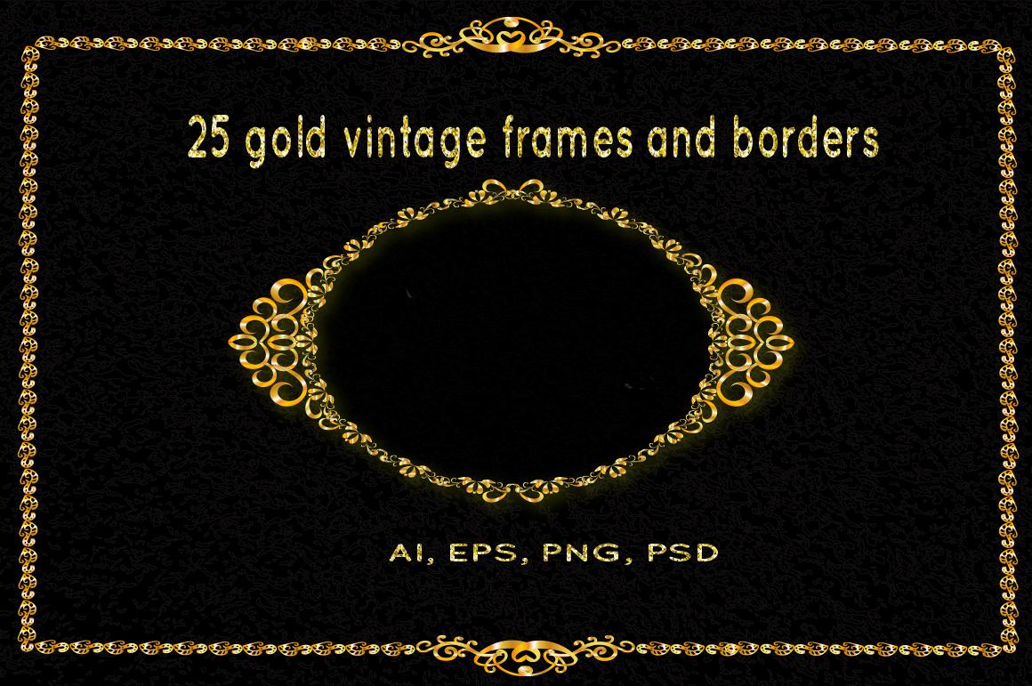 25 golden vintage frames example image 1