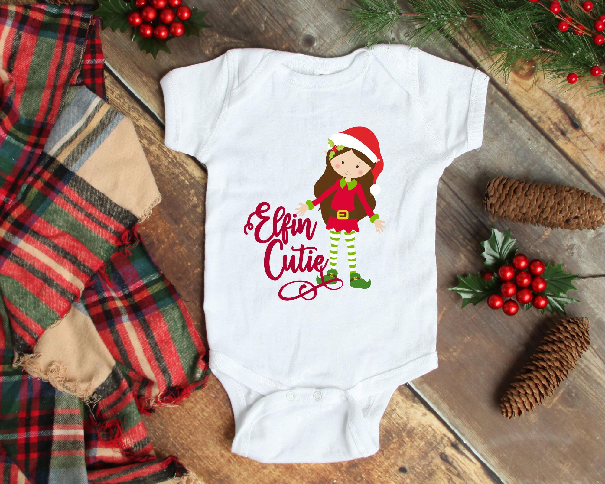 Christmas Elf Bundle, Elf SVG Sublimation, Elfin Cool SVG example image 8