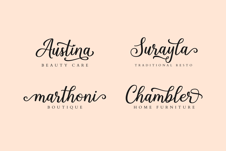 Shalinta - Luxury Calligraphy Font example image 2