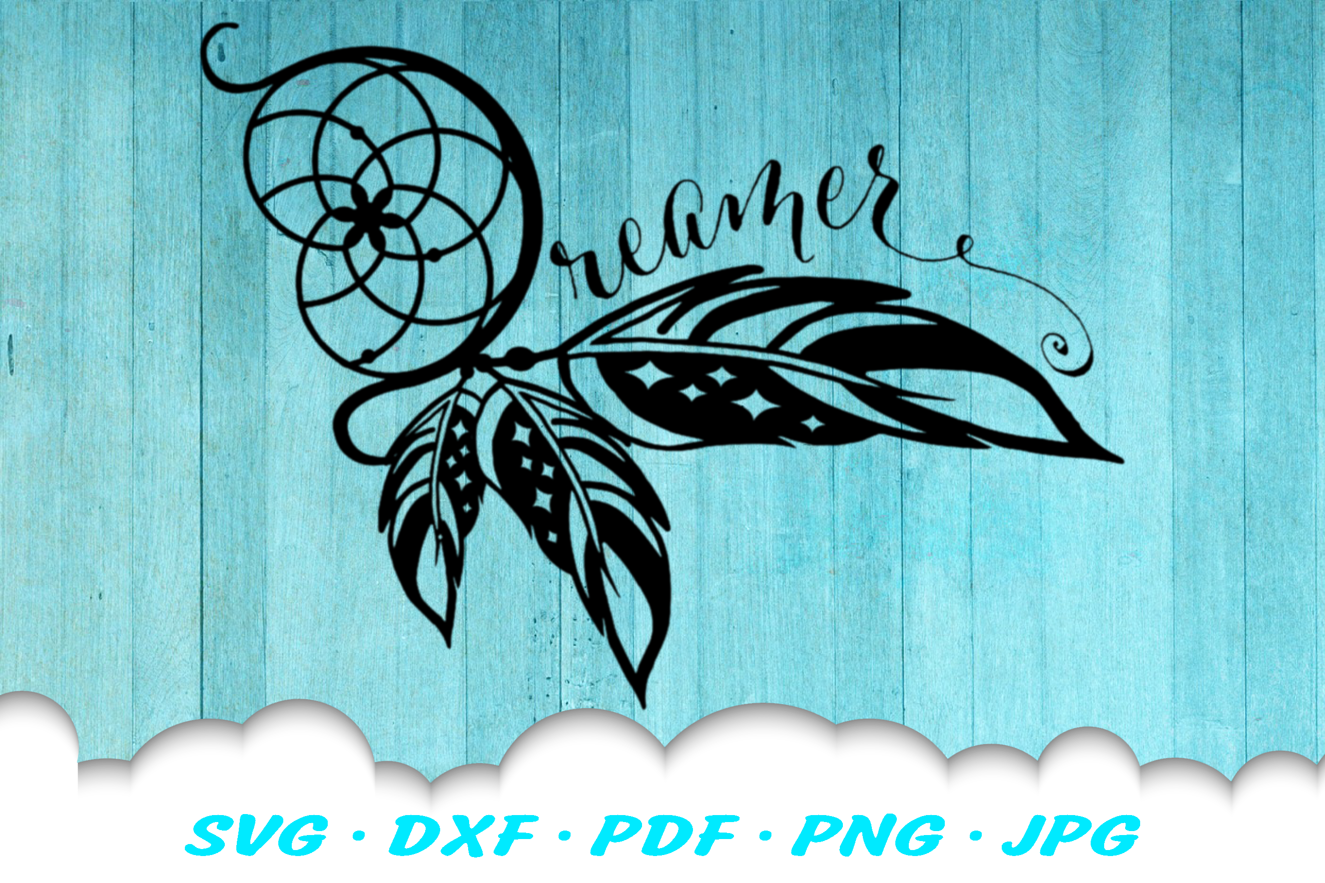 Dream Catcher Dreamer SVG DXF Cut Files example image 2