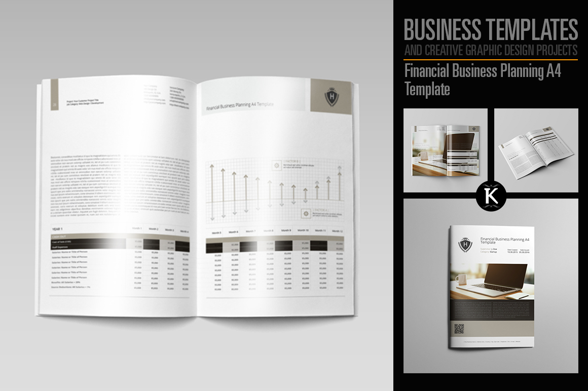 Financial Business Planning A4 Template example image 1