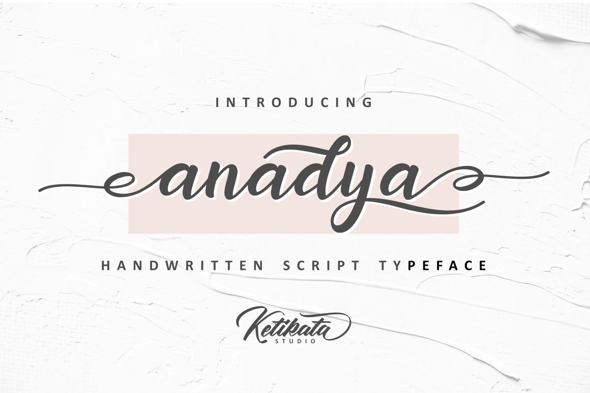 Anadya Handwritten Script example image 2
