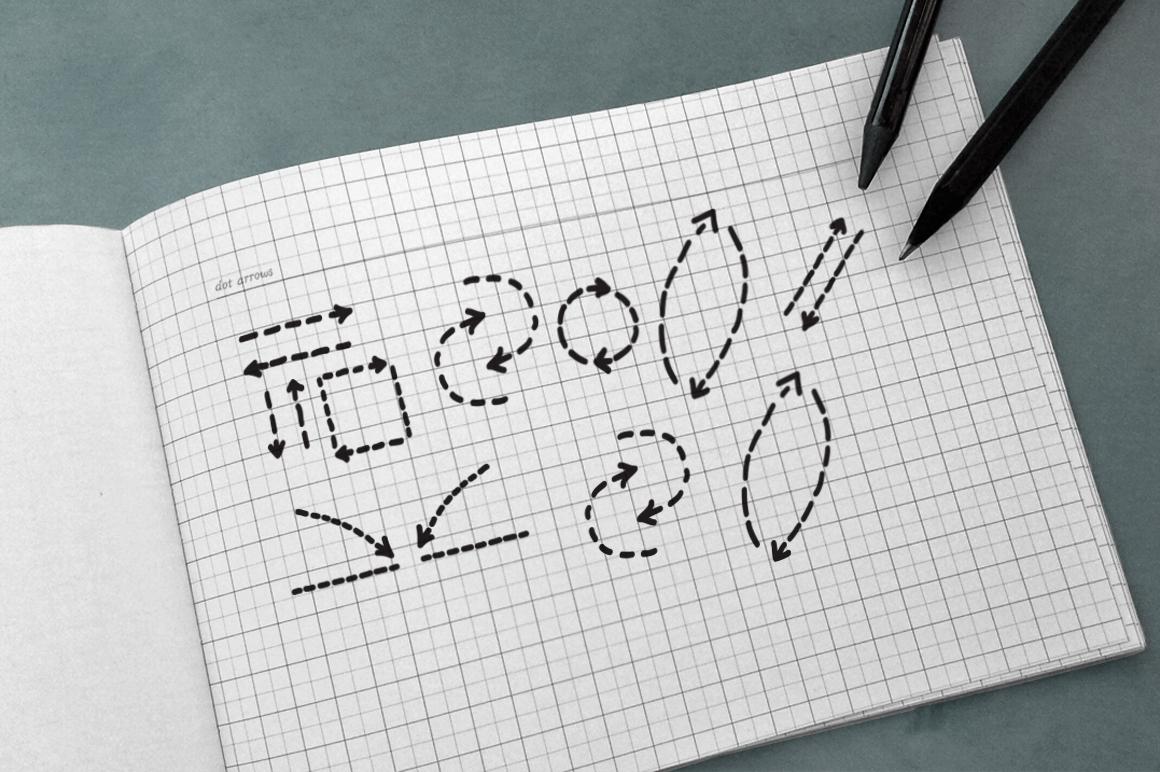 100 Hand Drawn Vector Arrows example image 5