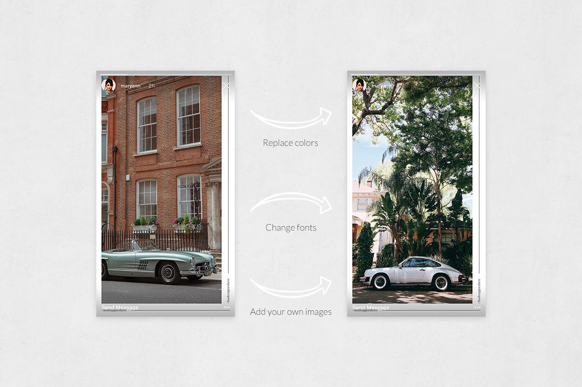 Classic Cars Animated Instagram Stories example image 5