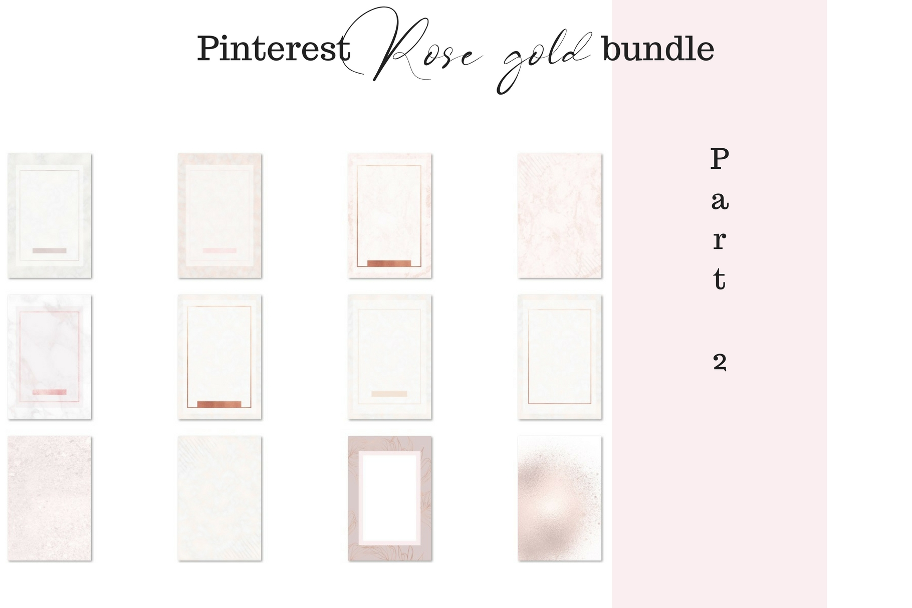 Pinterest rosé gold bundle example image 3