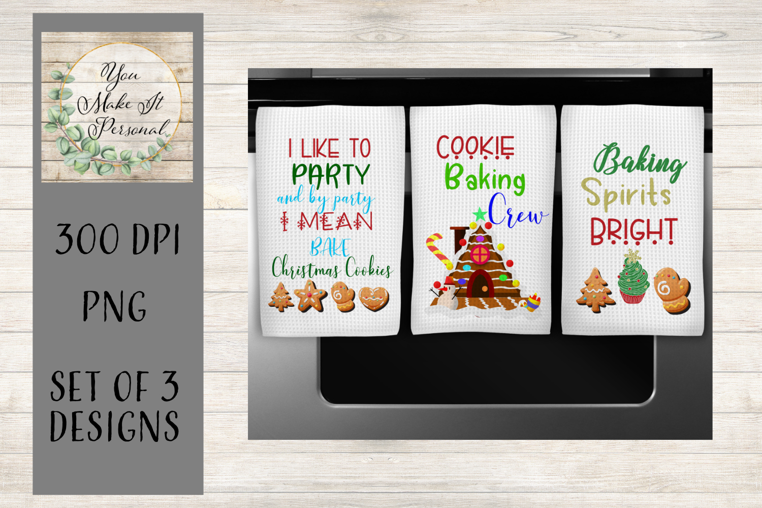 Kitchen Towel Designs for Christmas example image 1