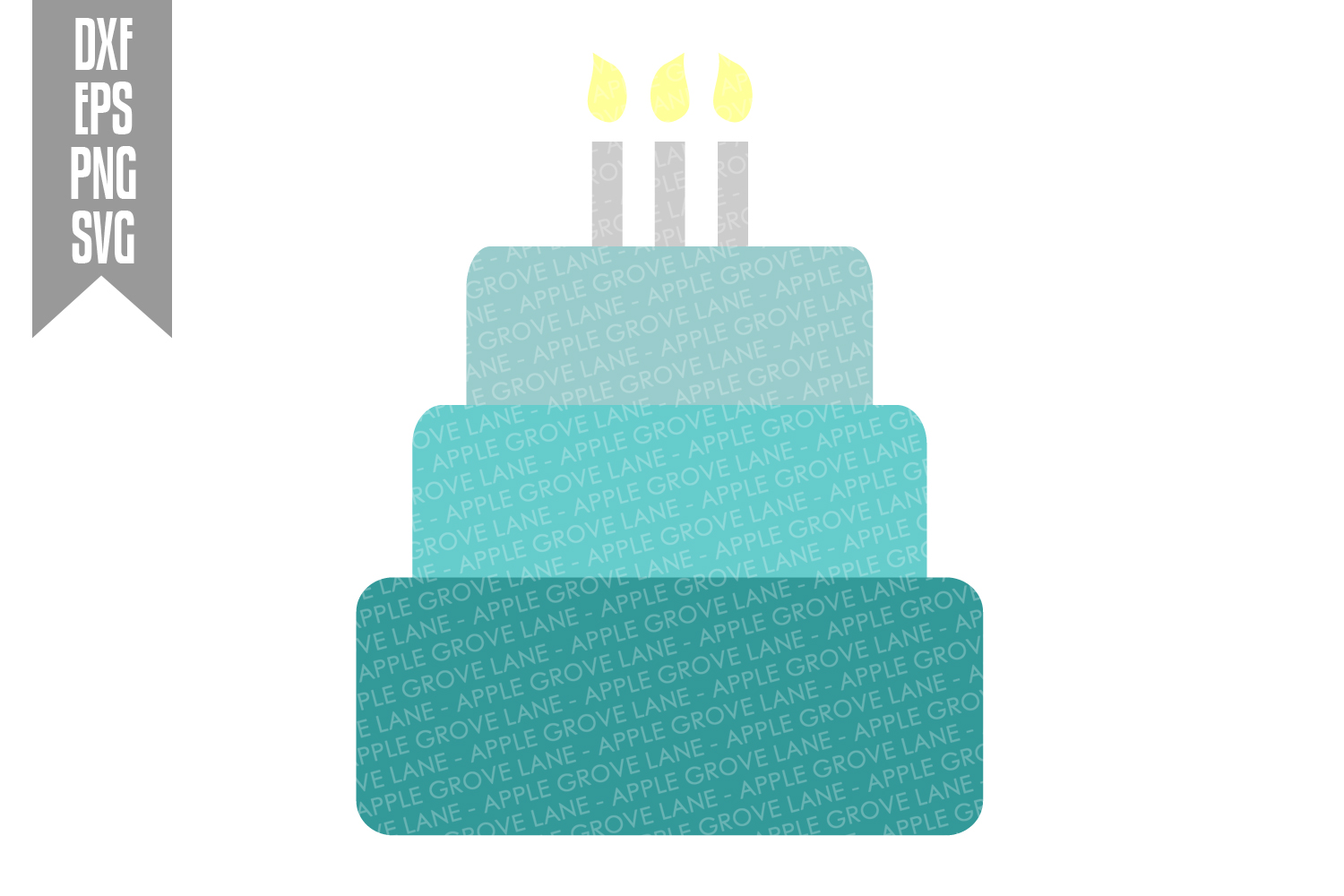 Blue Birthday Svg Bundle - 8 designs included - Svg File example image 9