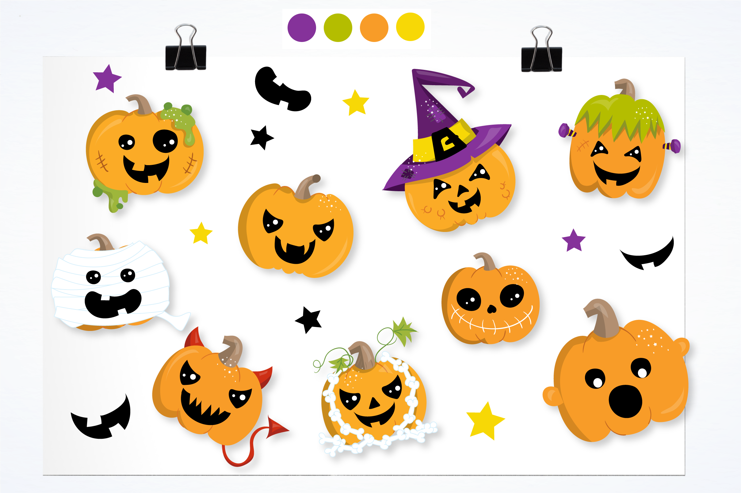 scary pumpkin halloween graphics and illustrations example image 2