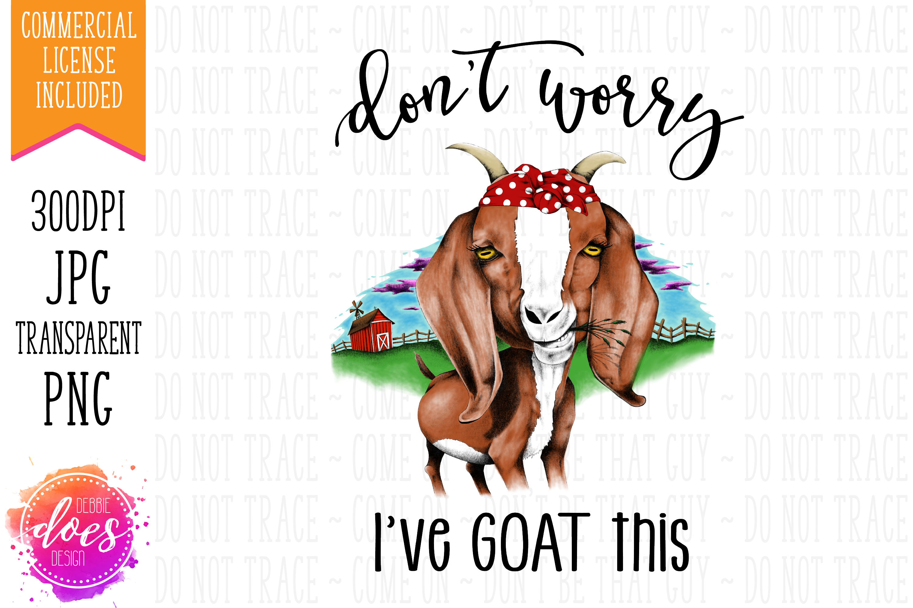 Don't Worry I've GOAT This - Hand Drawn Printable Design example image 2