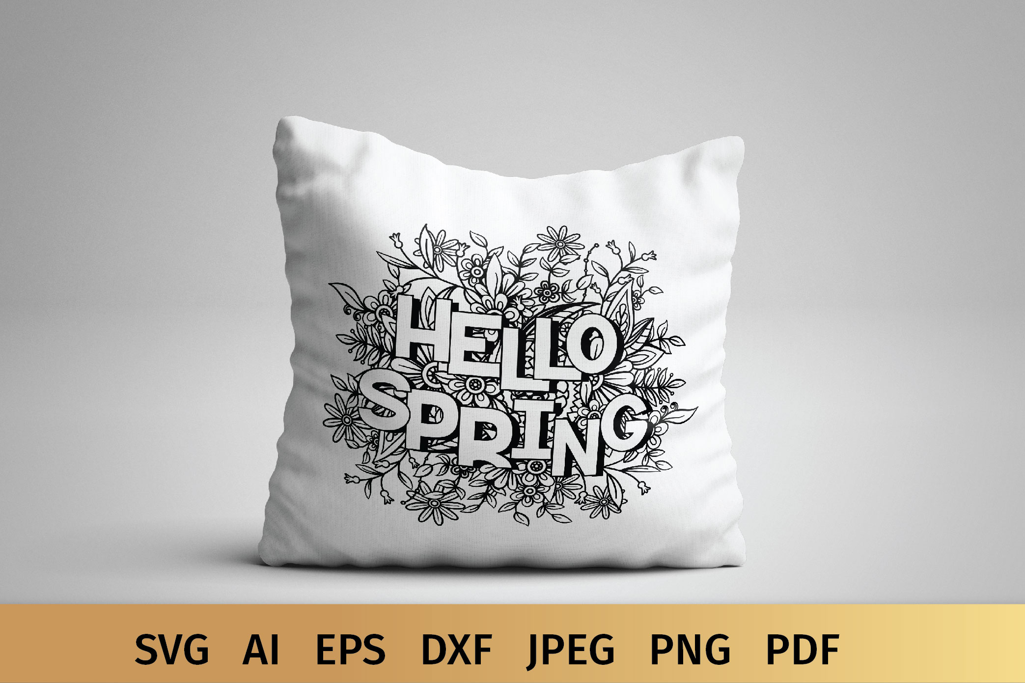 Hello Spring SVG example image 6