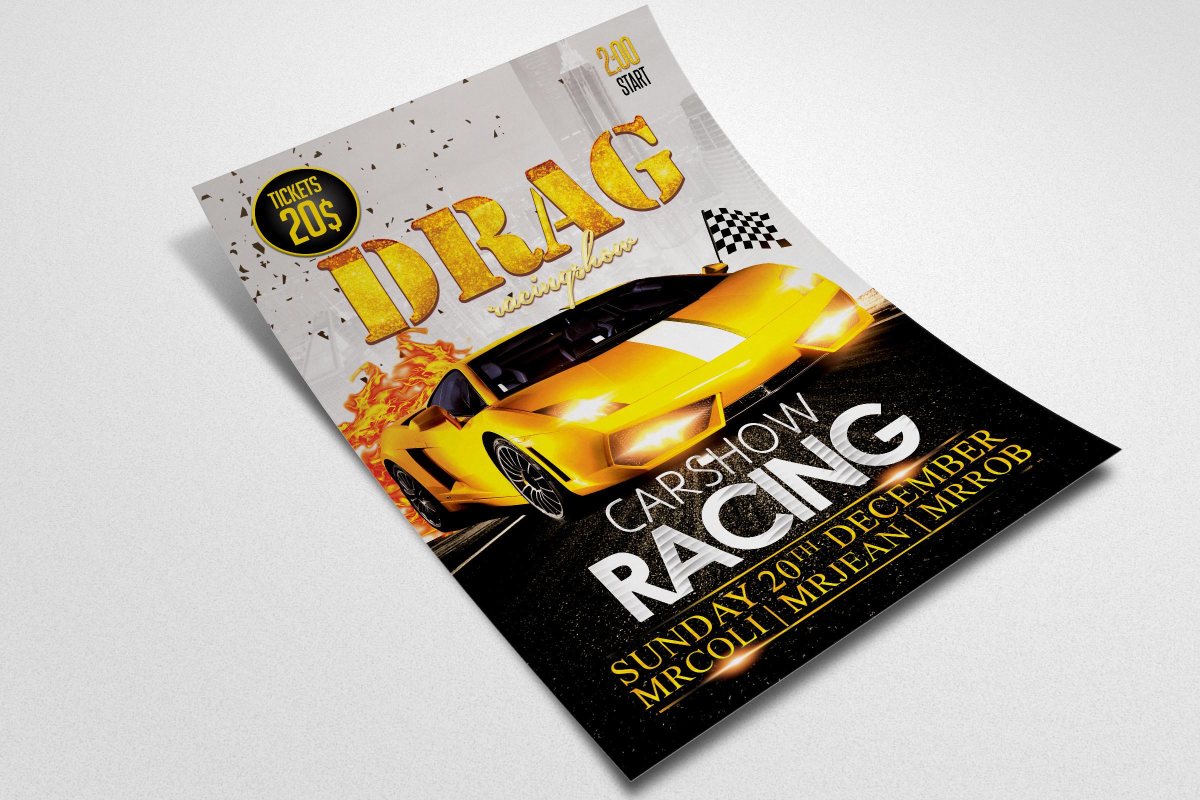 Car Drag Racing Flyer example image 2