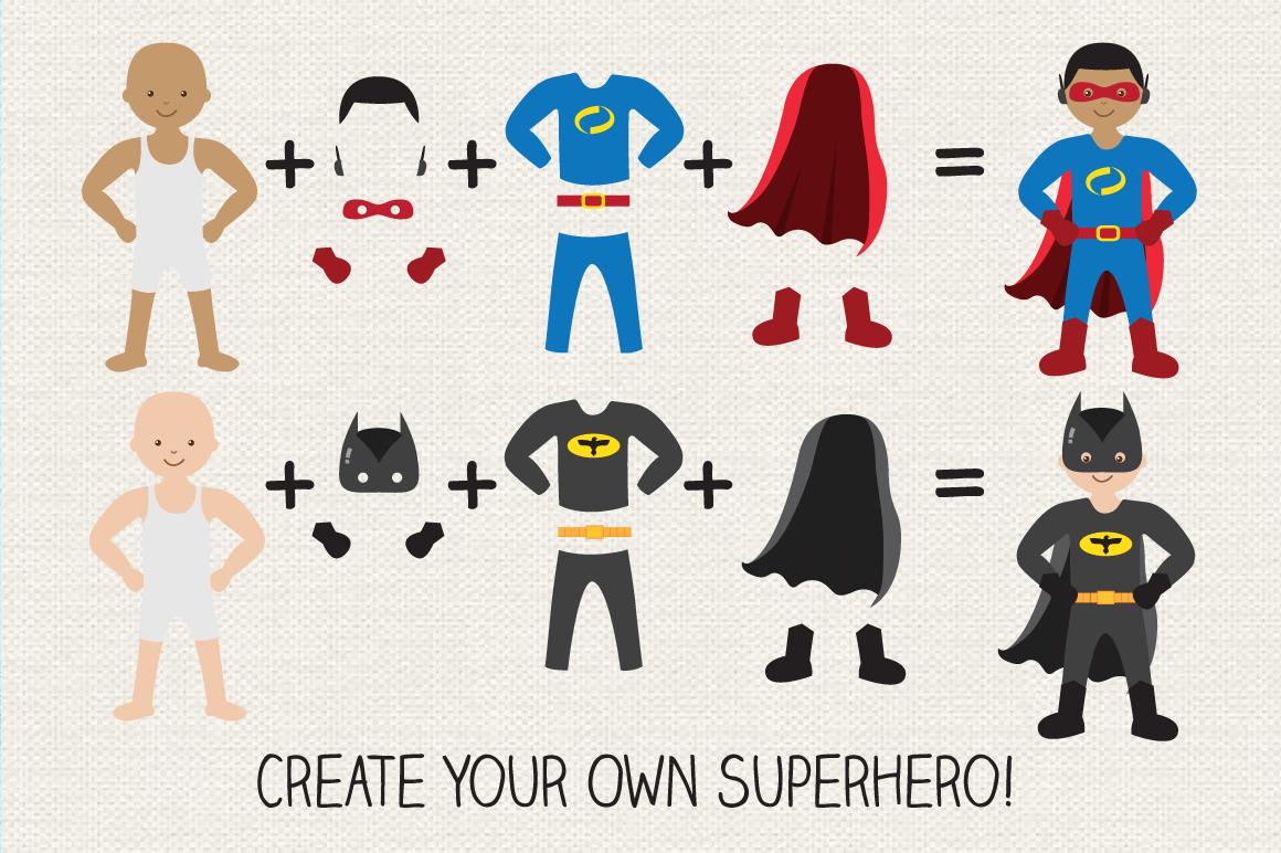 Superhero Creator Kit Clipart example image 2