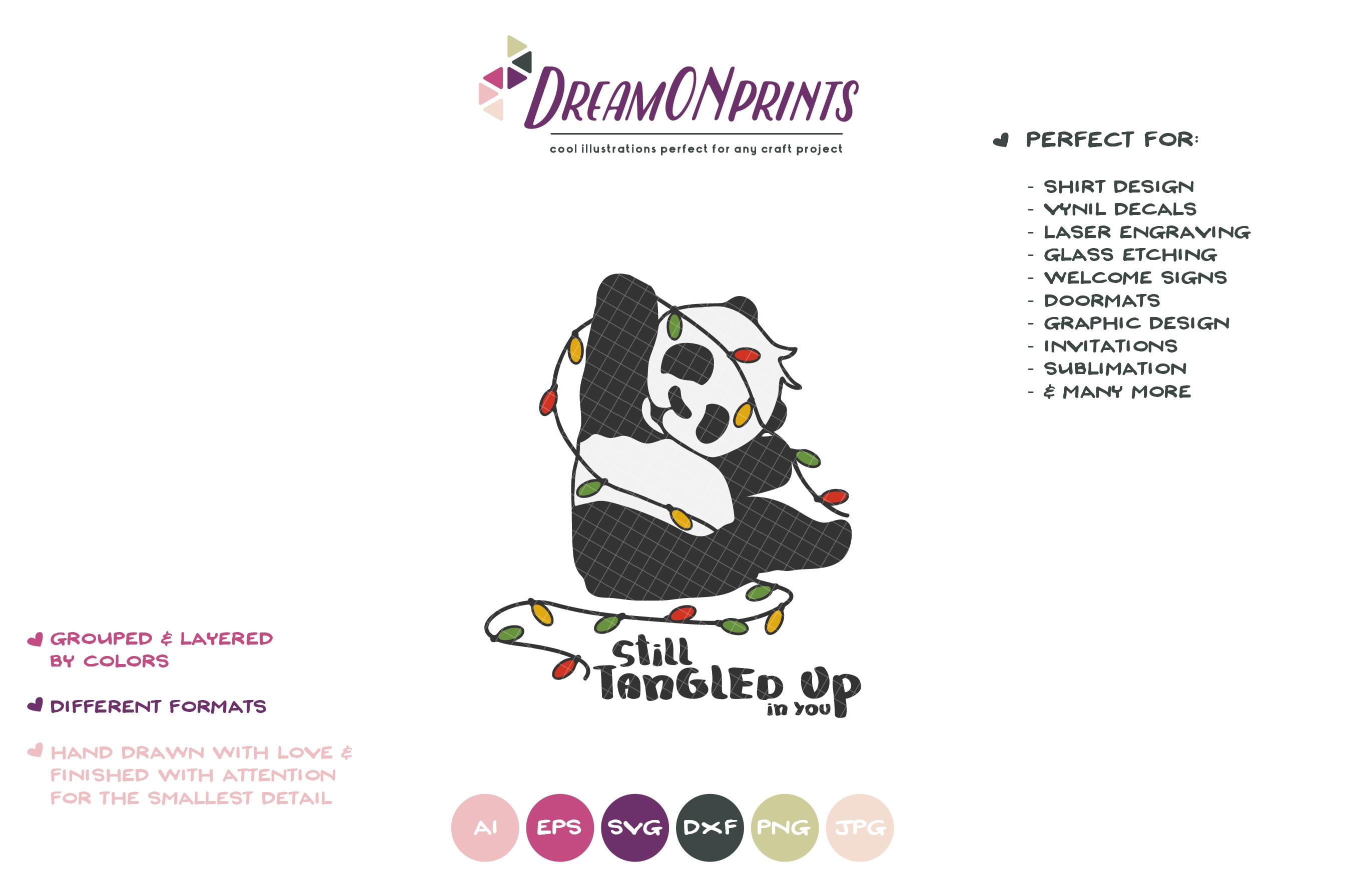 Tangled up in You | Fun Panda SVG | Funny Panda Bear example image 2