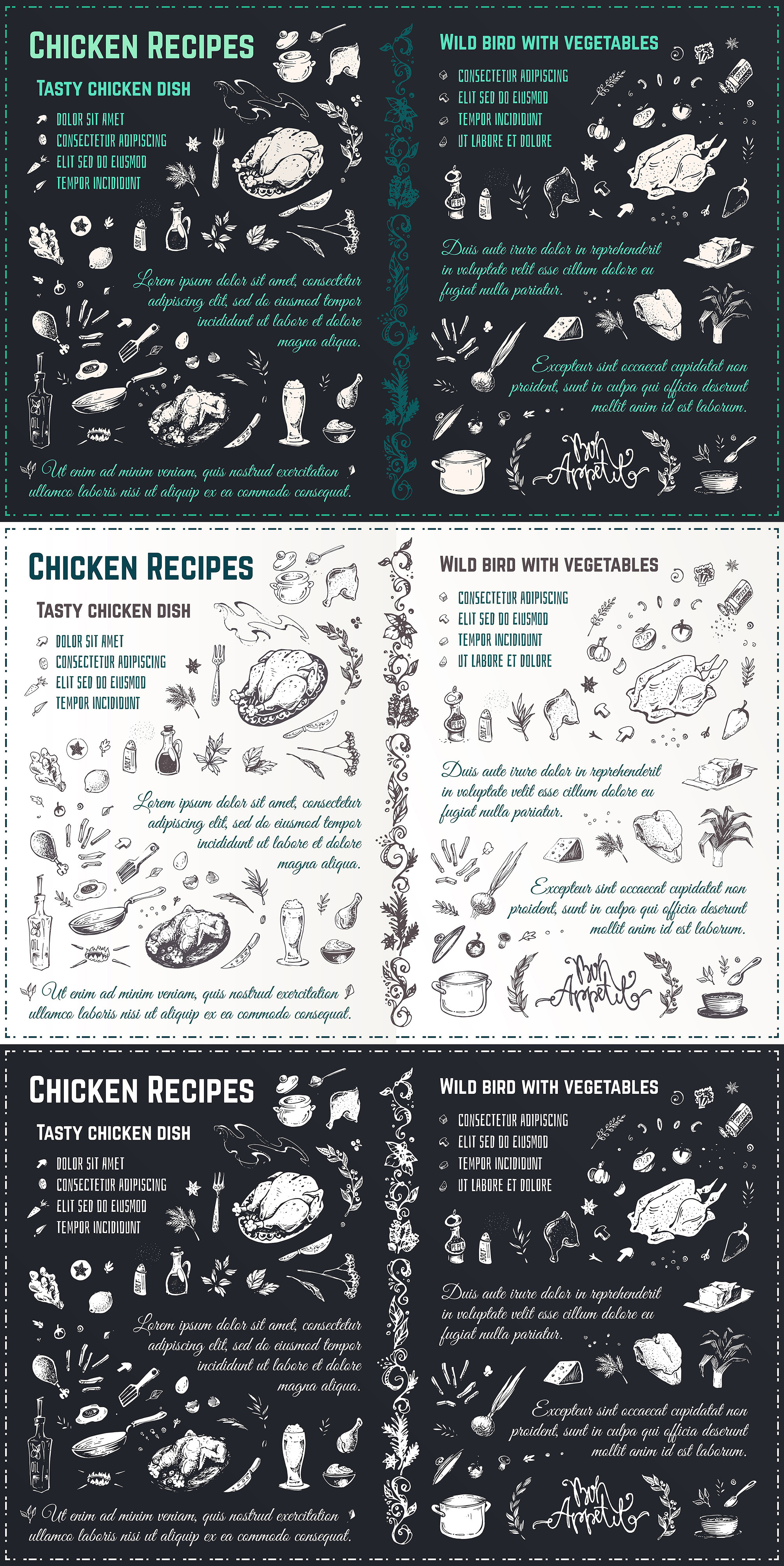 Hand drawn cooking and food icons example image 11
