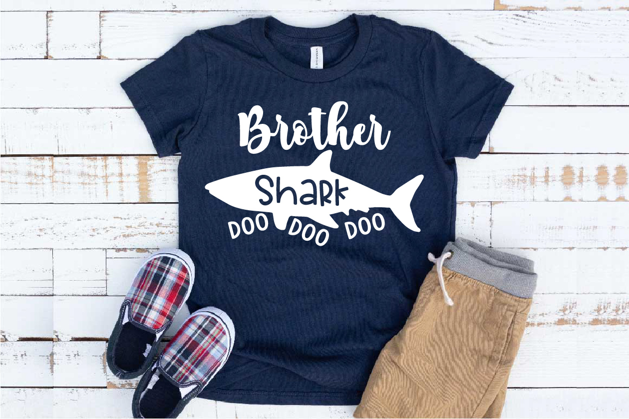 Brother Shark SVG Doo Doo Doo Family Birthday Sea 1305S example image 1
