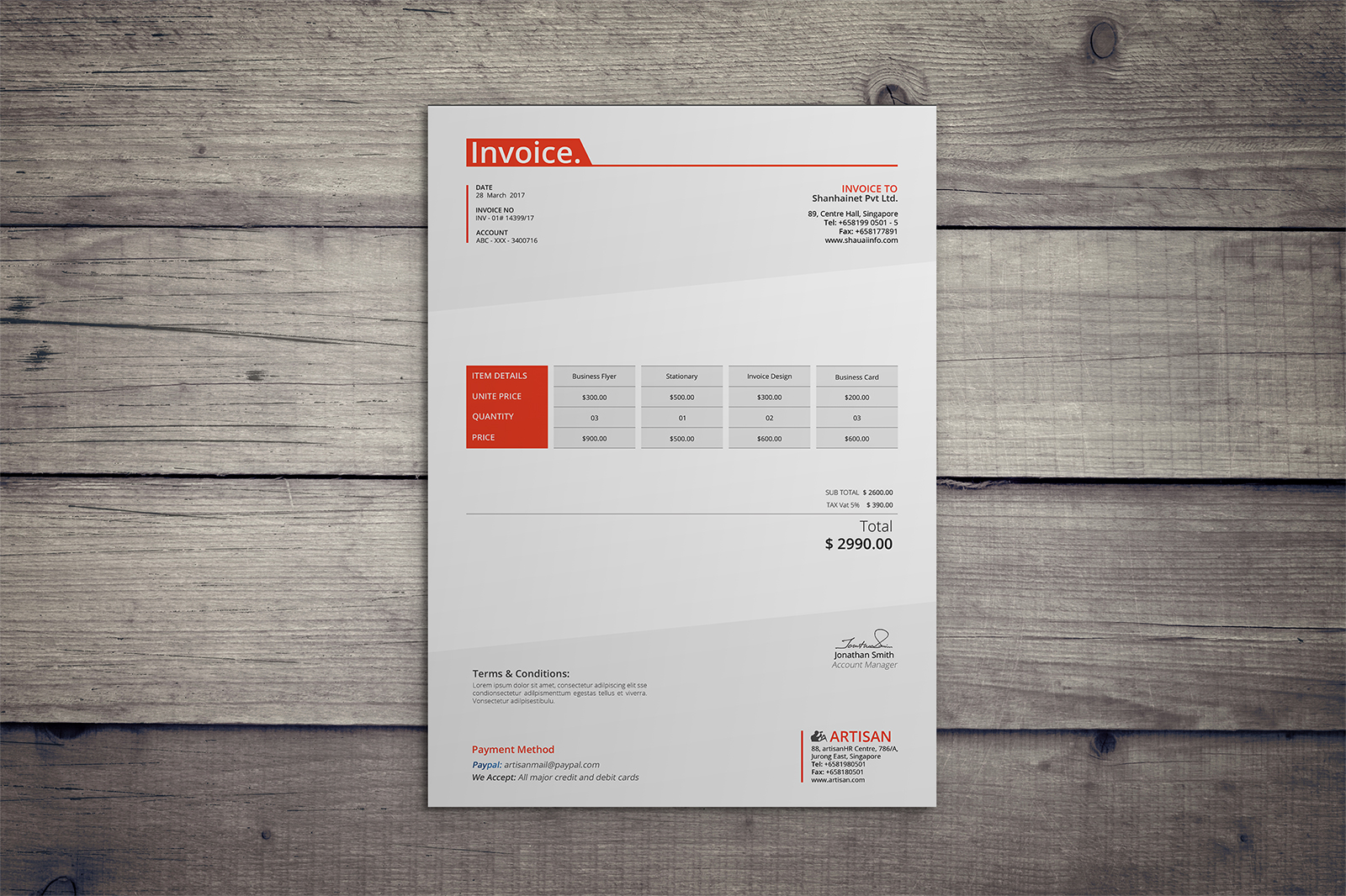 Invoice Template example image 5