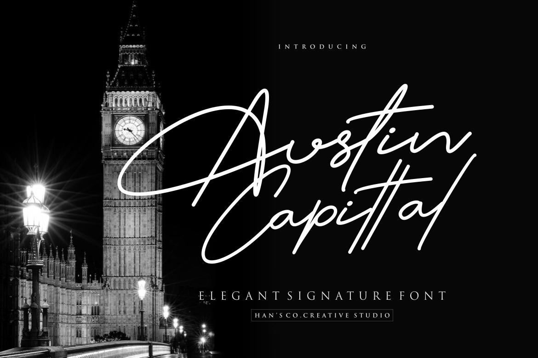 Austin Signature Font example image 1