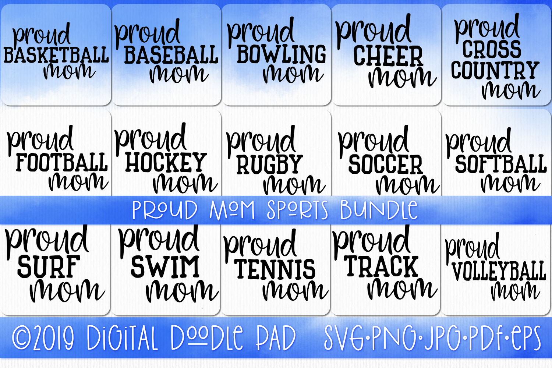 Sports Mom SVG Bundle, Sports SVG example image 1