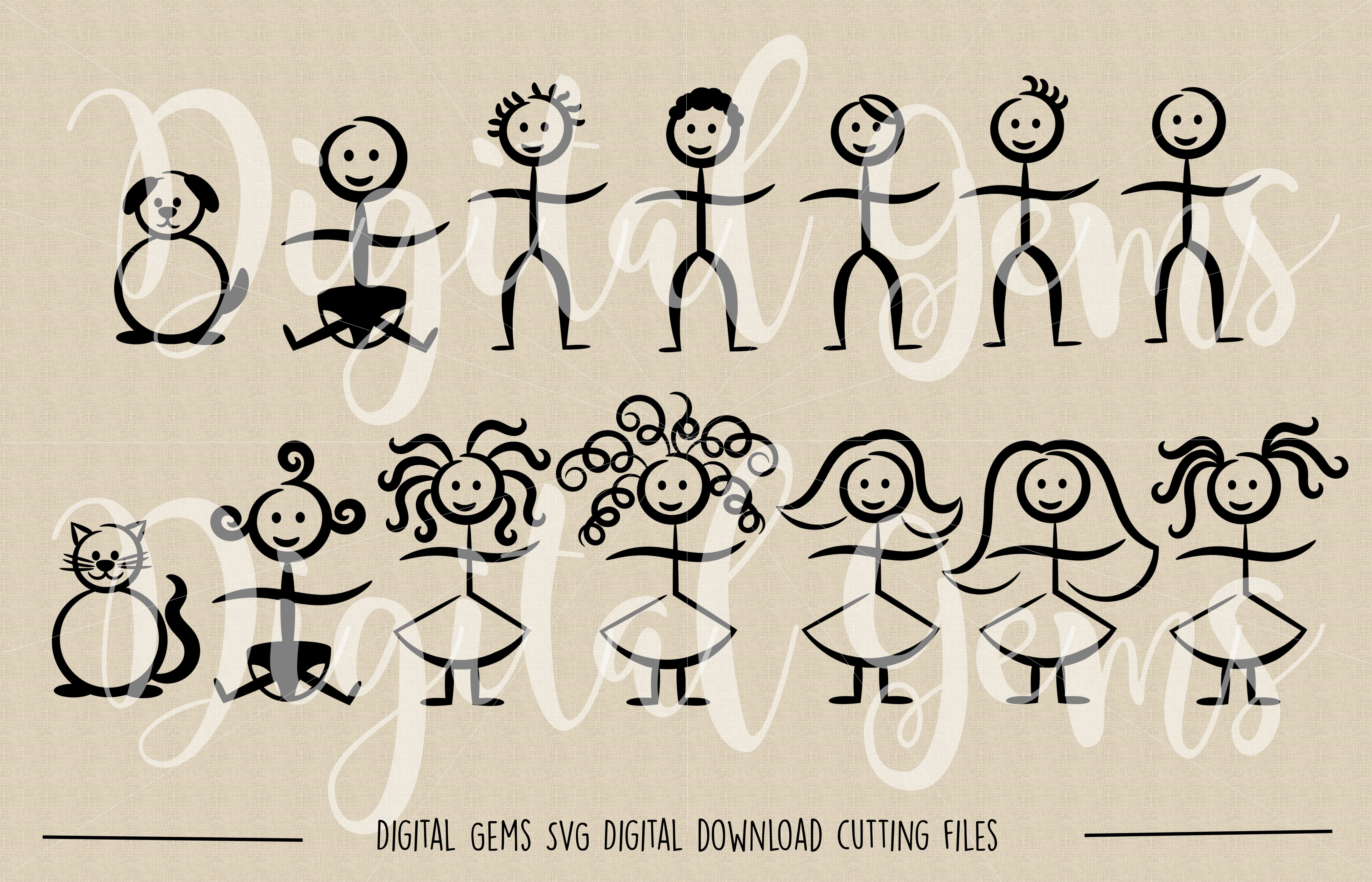 Stick Figure SVG / PNG / EPS / DXF Files example image 2