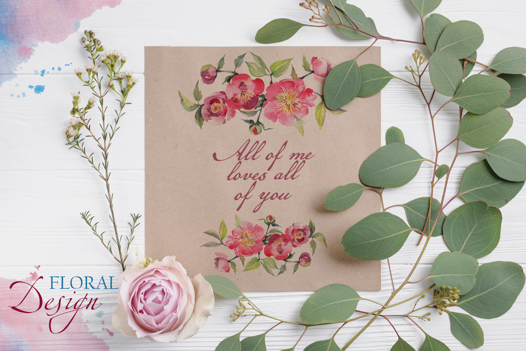 Bouquet with tea roses Watercolor png example image 4