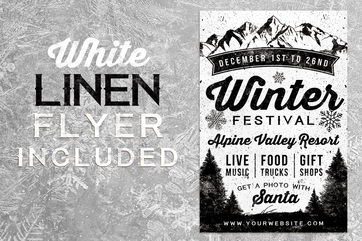 Chalk Winter Festival Flyer example image 2