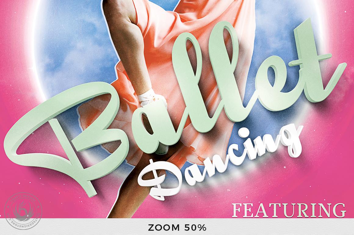 Dance Ballet Flyer Template V2 example image 7
