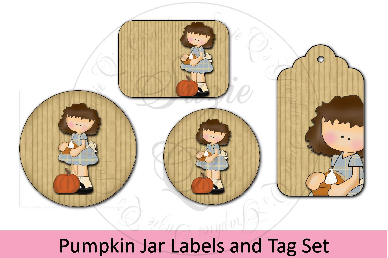 Pumpkin Jar Labels and Tag example image 1