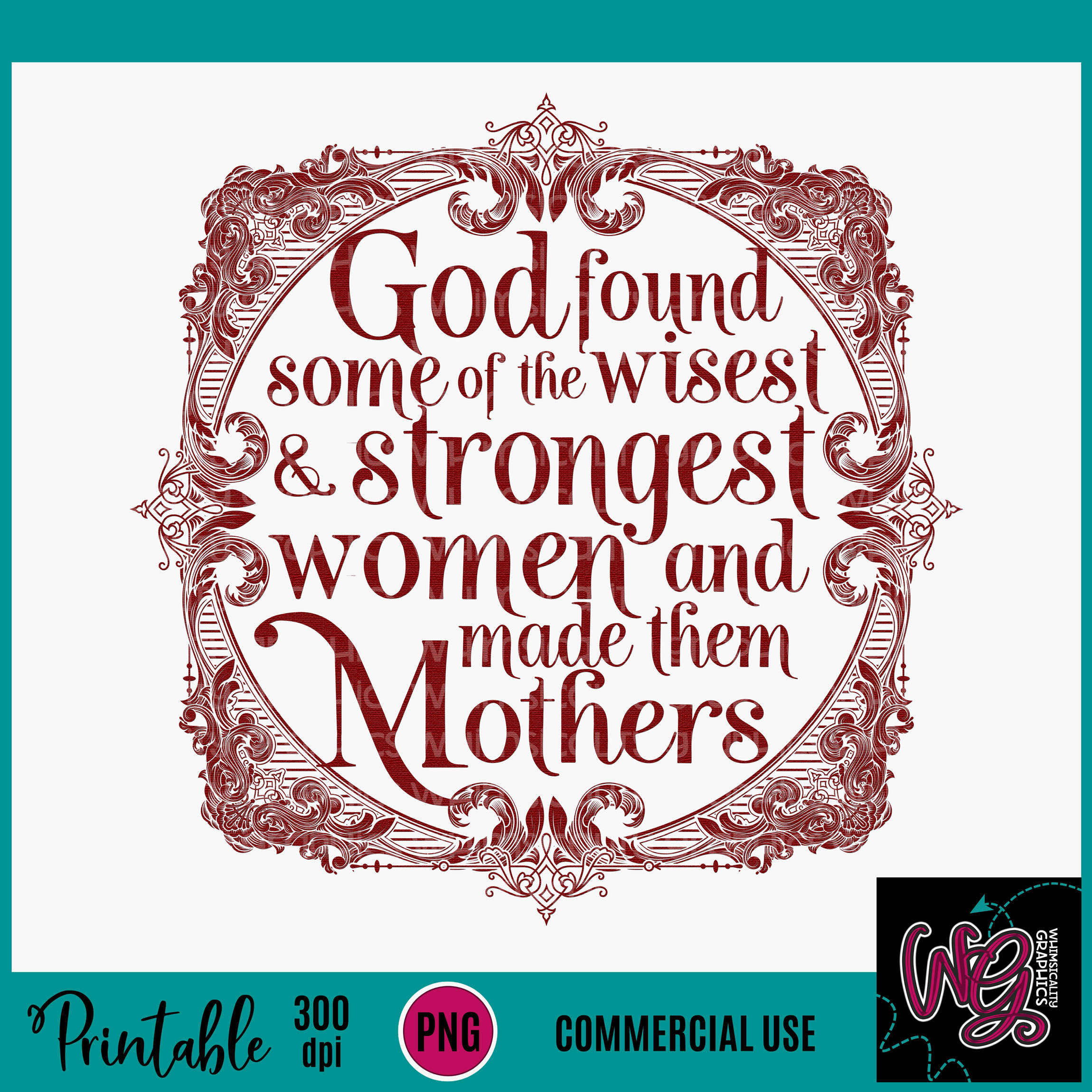 God Made Mothers Sublimation Printable example image 2