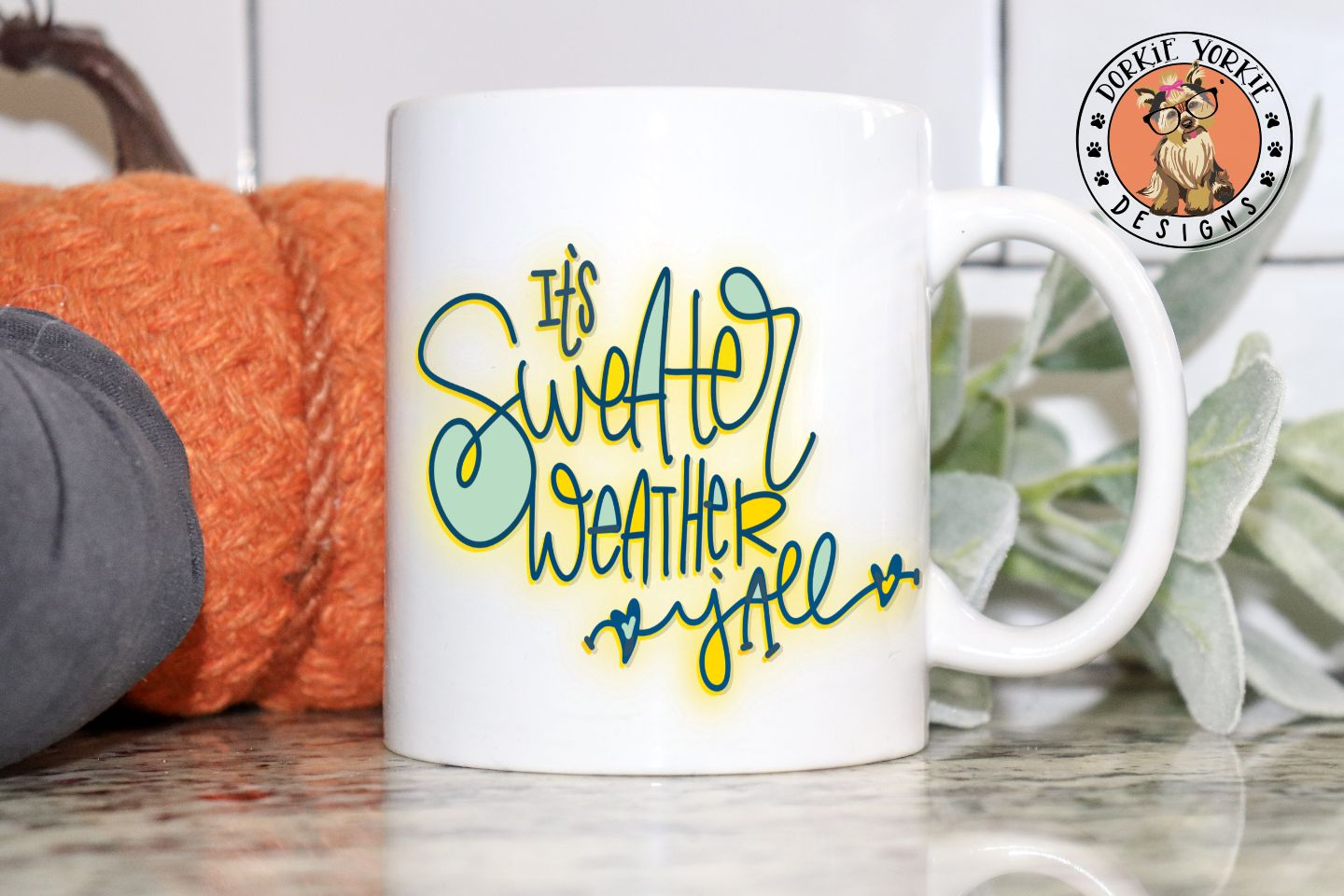 It's Sweater Weather Y'all Hand lettered - SVG Cut File example image 2