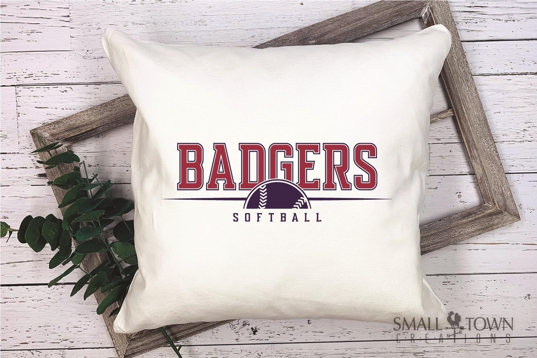 Badger, Badger Softball Team, Sport, PRINT, CUT & DESIGN example image 3