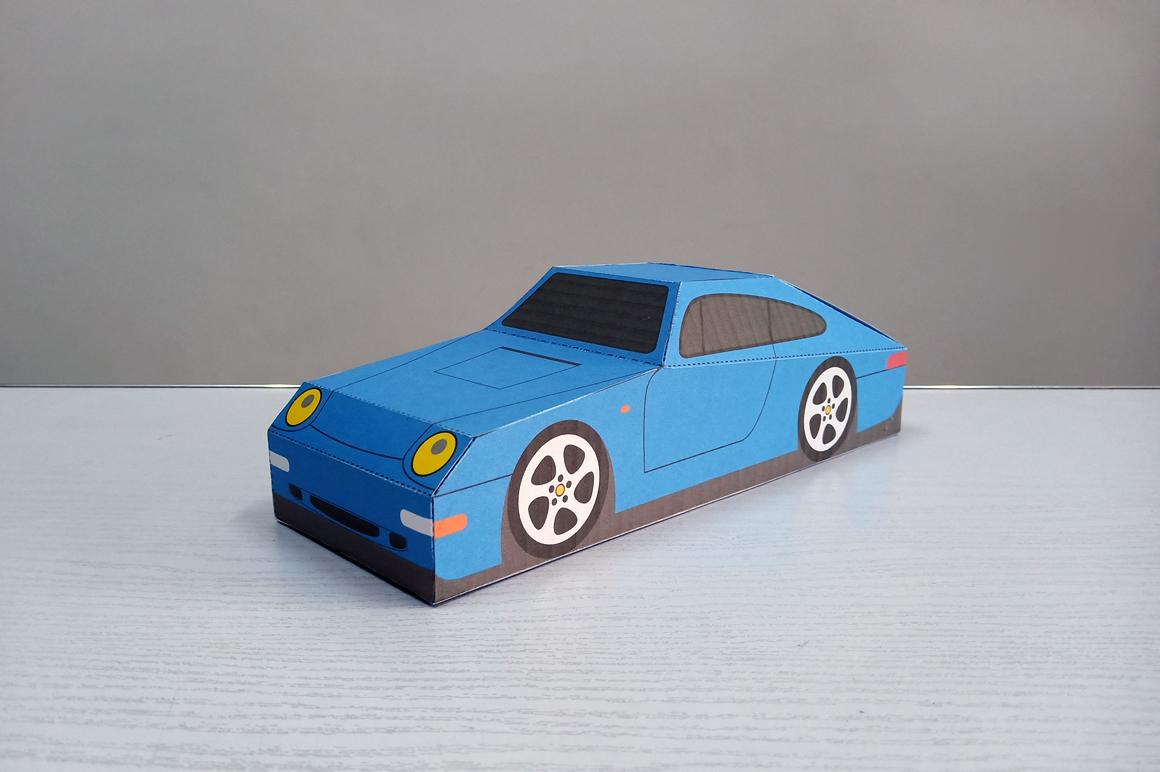 DIY Porsche Car favor - 3d papercraft example image 7