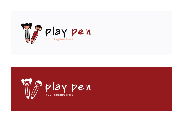 Play Pen - Cute Kids Abstract Stock Logo Template example image 2