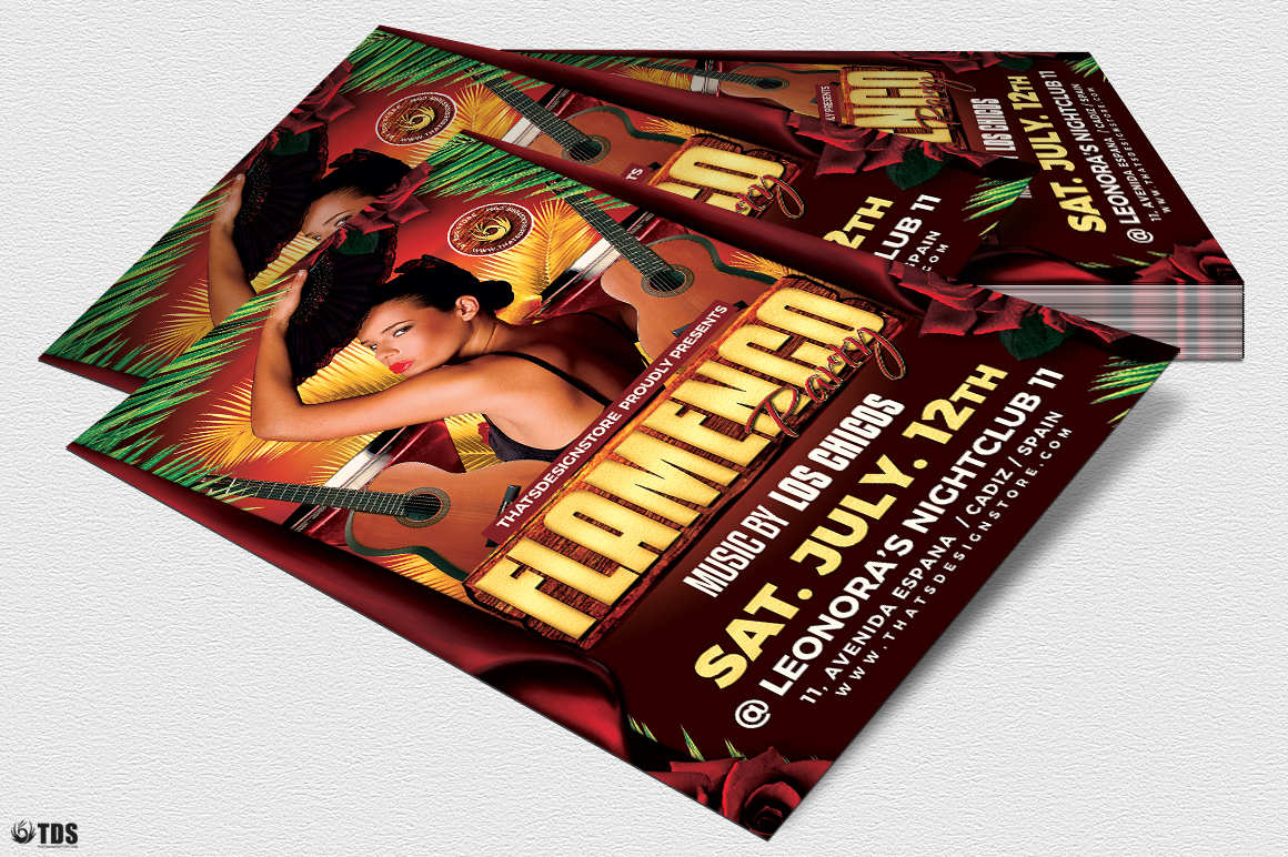 Flamenco Party Flyer Template example image 4