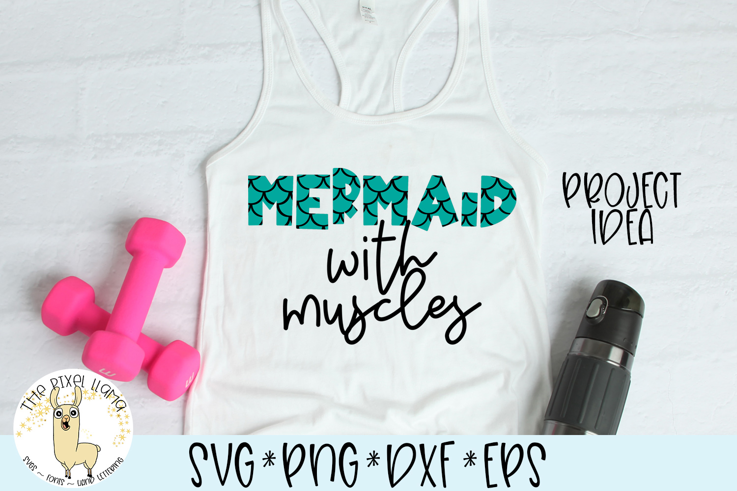 Mermaid Chameleon A Block Font With Mermaid example image 3
