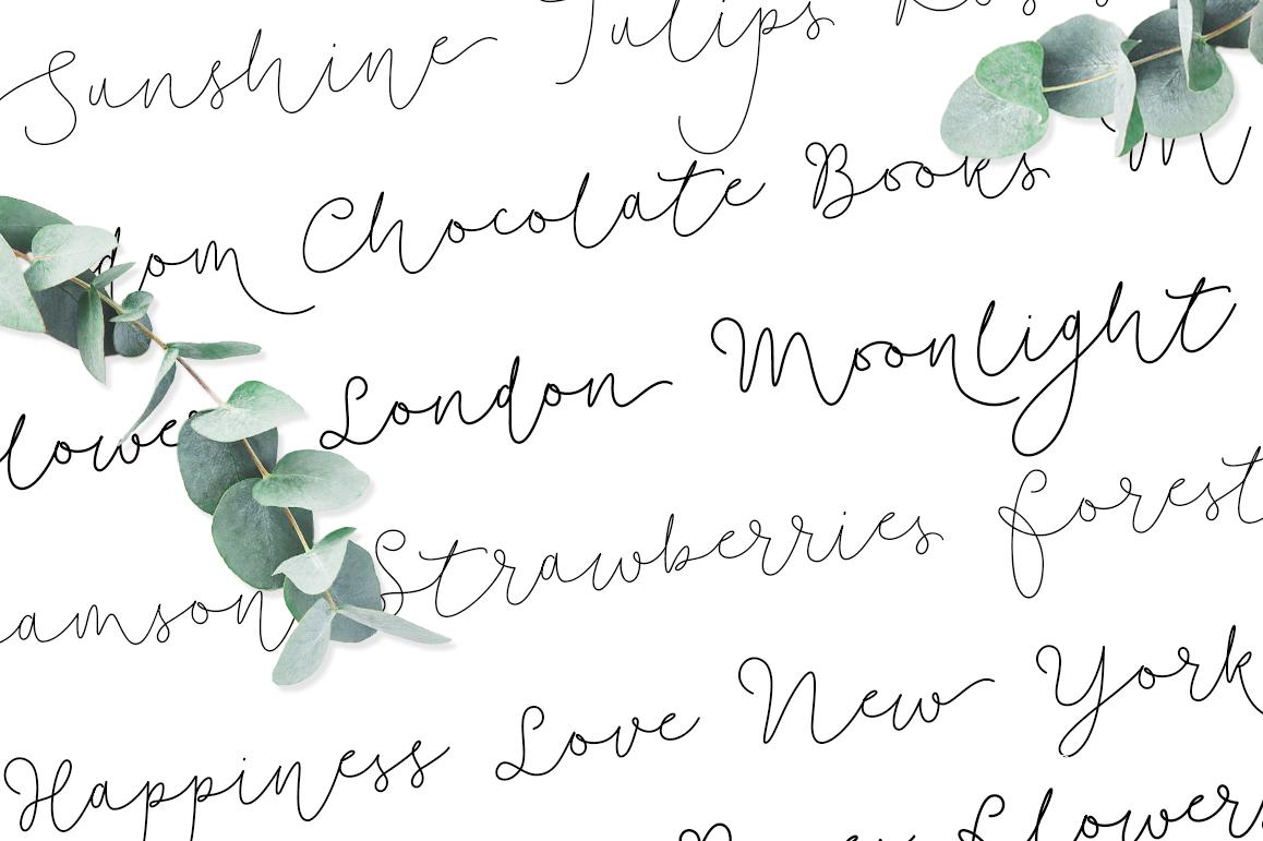 Soft Whisperings wedding font example image 3