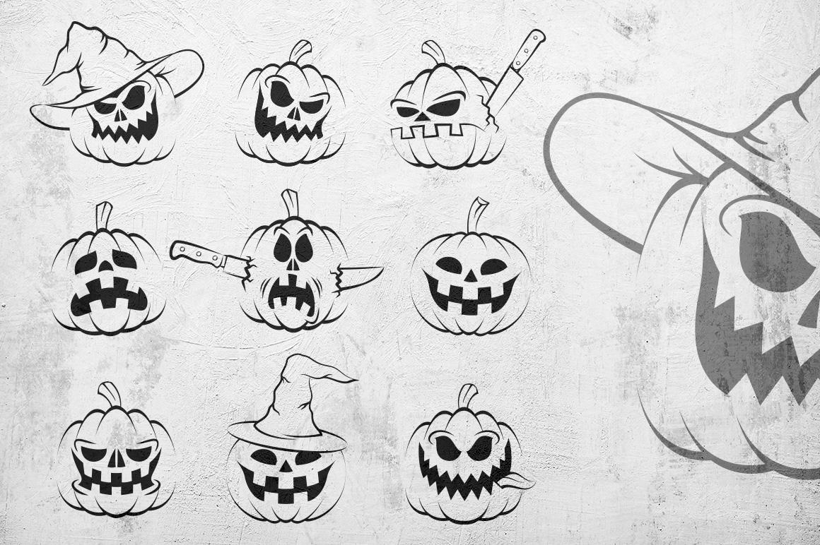 Halowen Pumpkins Pack example image 2